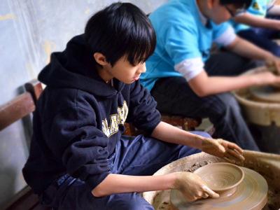 鶯歌陶藝專業玩陶敎室‧藍染牛角DIY